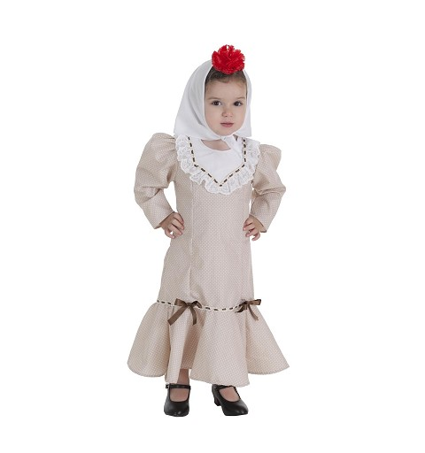 Disfraz Chulapa Beige Bebé...