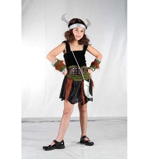 Disfraz Vikinga Niña Infantil