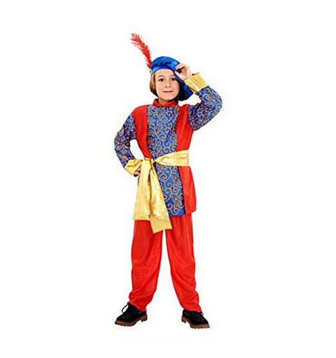 Disfraz Paje Rey Mago Azul Y Rojo