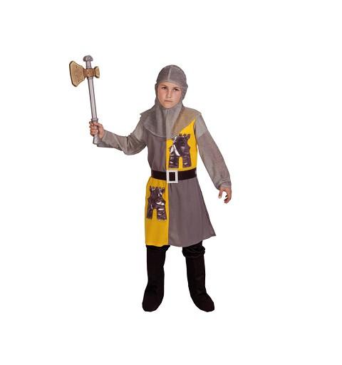 Disfraz Caballero Mediaval Gris Infantil