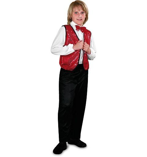 Disfraz Charleston Chaleco Rojo Infantil