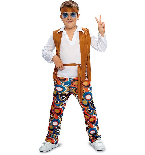 Disfraz Hippie Chaleco Marron Infantil