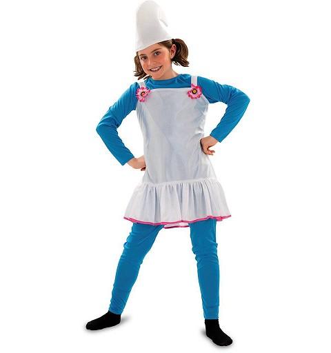 Disfraz Duende Azul Flor Infantil