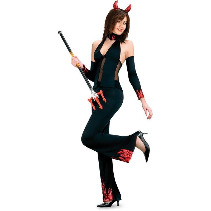 7b74b4c7d11c Disfraz de Diablesa Sexy con Gargantilla para Mujer - MiDisfraz