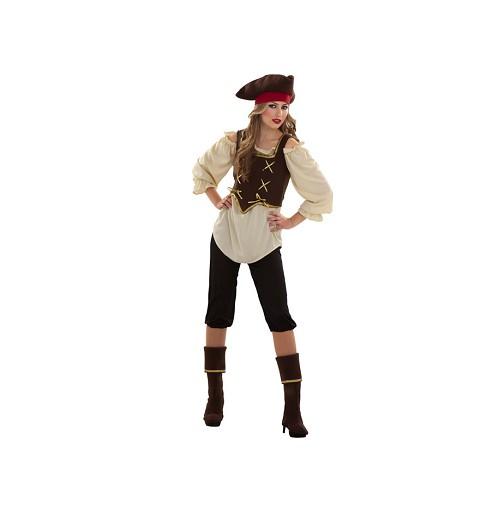 Disfraz Pirata Malla Negra Adulto