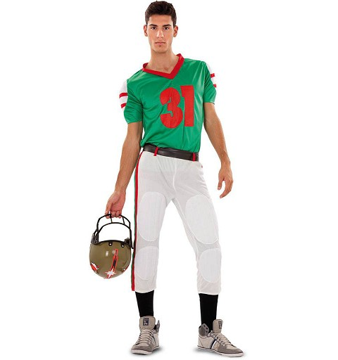 Disfraz Jugador Rugby Green...