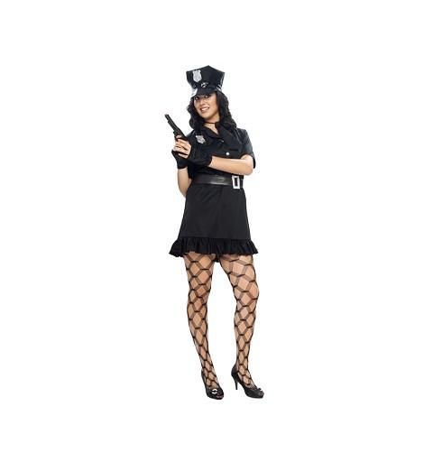 Disfraz Policia Negro Mujer...