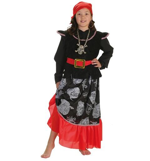 Disfraz Bucanera Calavera Infantil