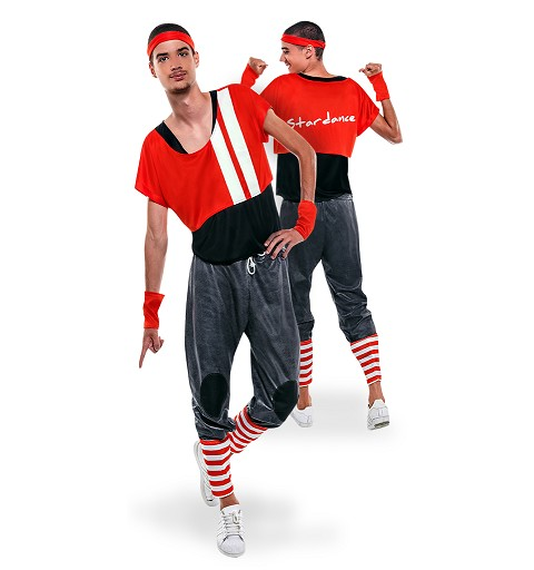 Disfraz Stardance Rojo Adulto