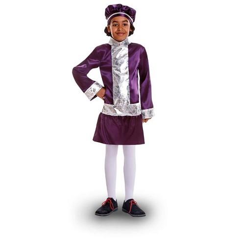 Disfraz Paje Lila Infantil...