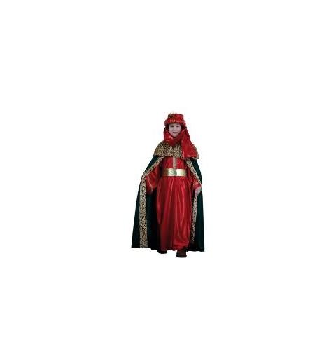 Disfraz Rey Mago Lujo Rojo...
