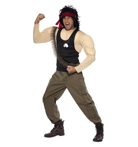 Disfraz Rambo Músculos...