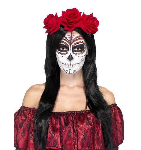 Corona Rosas Día de Los Muertos
