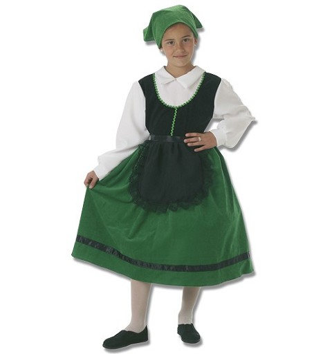 Disfraz Pastora Verde Infantil