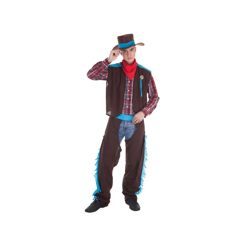 b111e2182e4c5 Disfraz de CowBoy con Sombrero y Pañuelo para Hombre - MiDisfraz