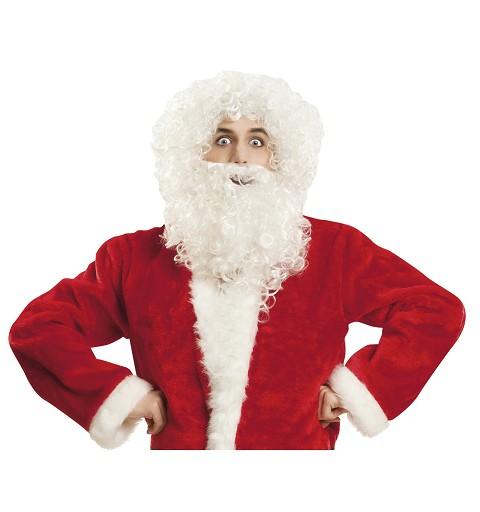 Peluca Y Barba Santa Claus...