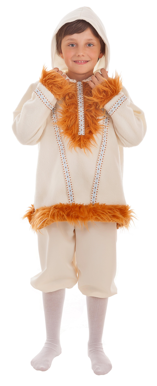 45829c9e1 Disfraz Blanco de Esquimal con Capucha para Niño - MiDisfraz