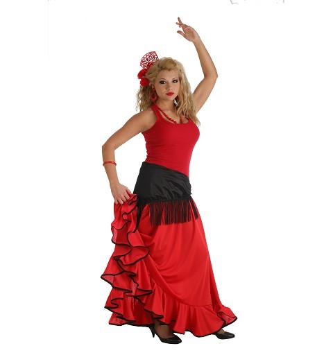 Falda Rociera Roja Adulto