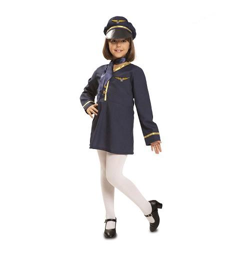 Disfraz de Azafata para Niña