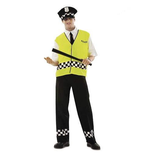 Disfraz Policía Con Chaleco...