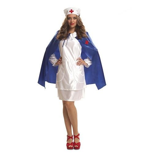 Disfraz Enfermera Con Capa...