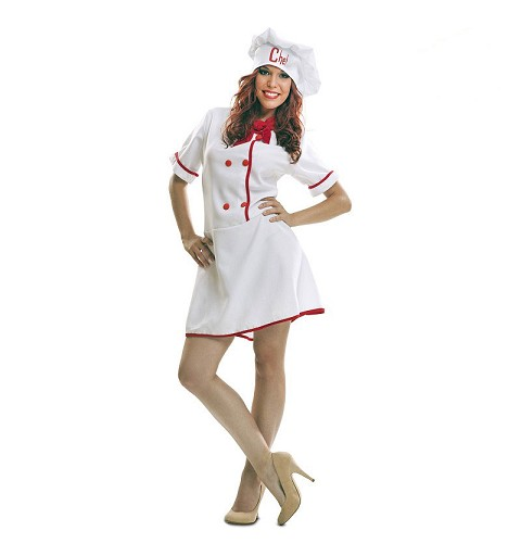 Disfraz de Chef para Mujer