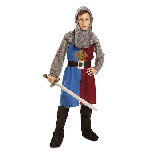 Disfraz Caballero Medieval Azul Y Granate Infantil