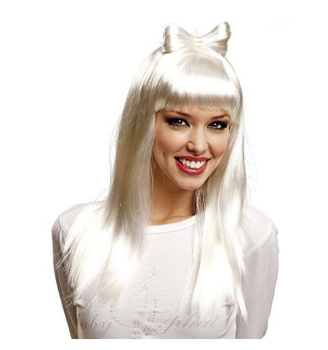 Peluca Pop Star Blanca