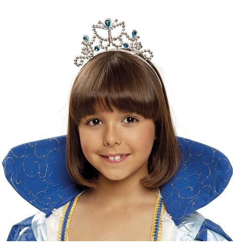 Tiara De Princesa Azul para...