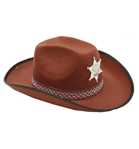 Sombrero De Sheriff  Marrón...