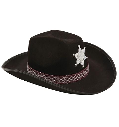 Sombrero De Sheriff  Negro...