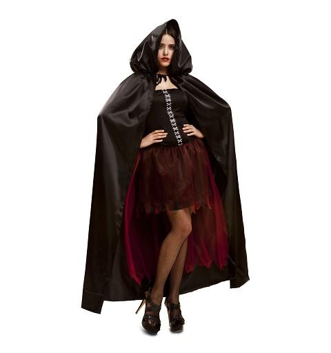Disfraz Capa Negra Mujer