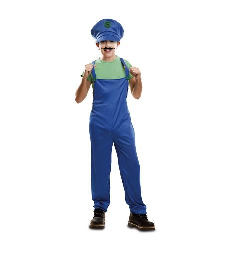 Disfraz Súper Plumber Verde...