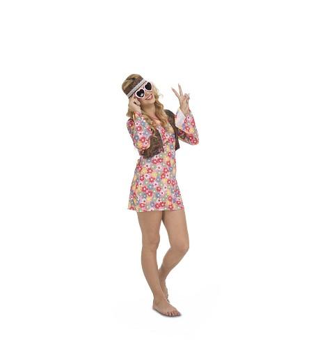 Disfraz Hippie Primavera Mujer