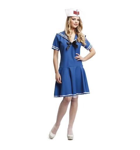 Disfraz Marinera Azul Falda...