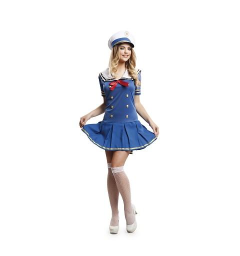 Disfraz Capitana Azul Mujer