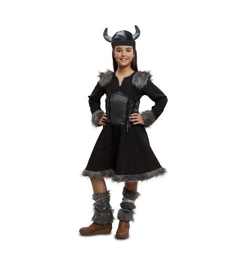 Disfraz Vikinga Salvaje Niña