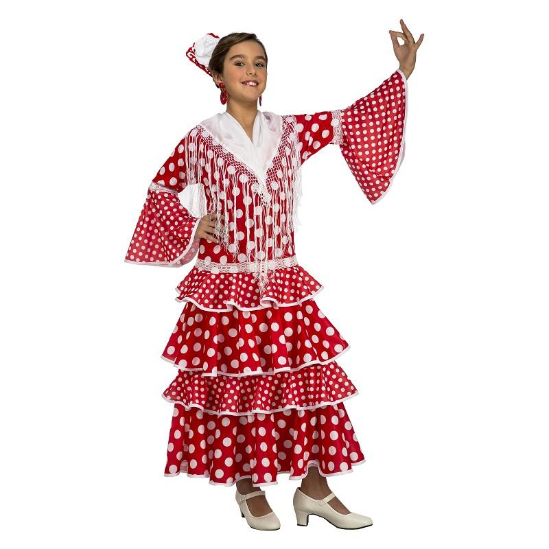 9ae060b71 Disfraz Flamenca Sevilla Rojo Niña - MiDisfraz