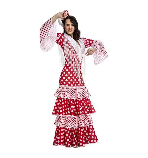 Disfraz Flamenca Rocío Rojo...
