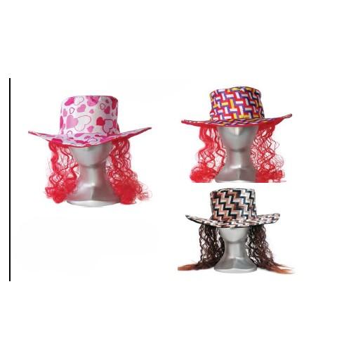 Sombrero + Peluca Colores...