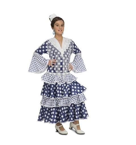 Disfraz Flamenca Soleá Azul...