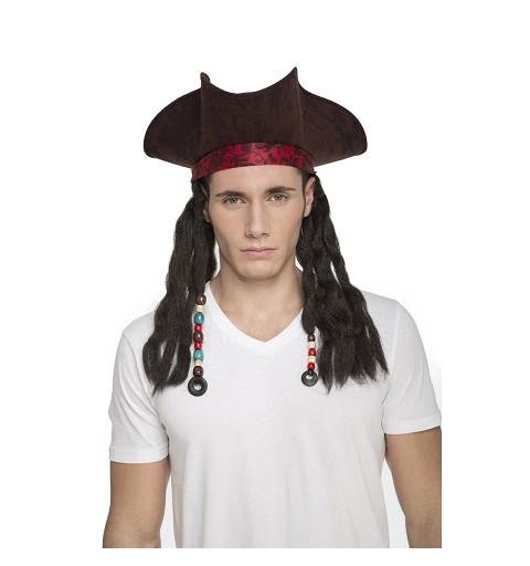 Sombrero Pirata Trenzas 58 Cm