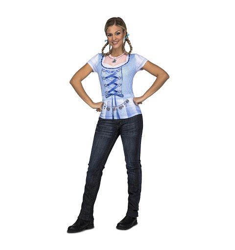 Camiseta Oktoberfest Azul...