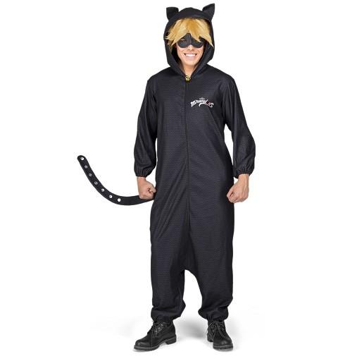 Disfraz Cat Noir Pijama Adulto