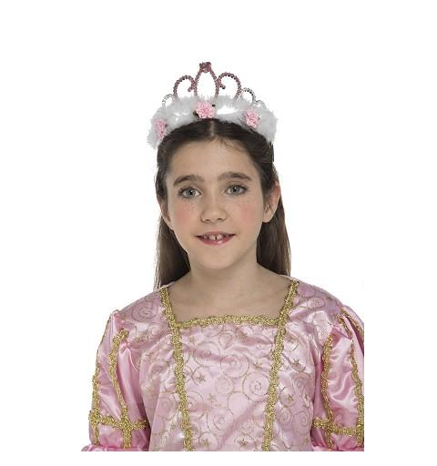 Tiara De Reina Infantil Rosas