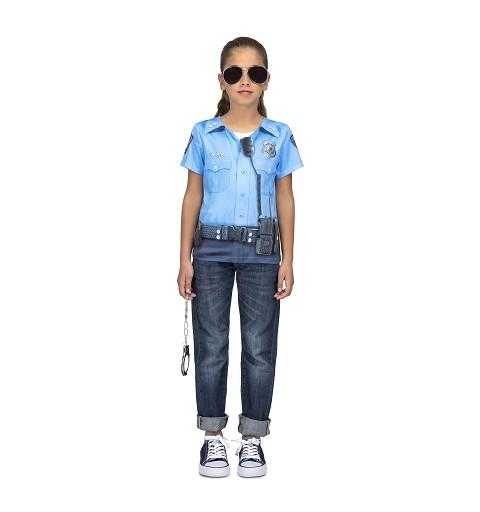 Camiseta Policia Niña Infantil