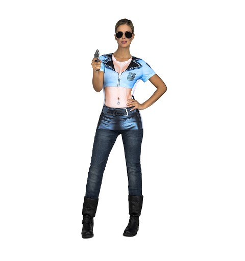 Camiseta Policia Sexy Mujer