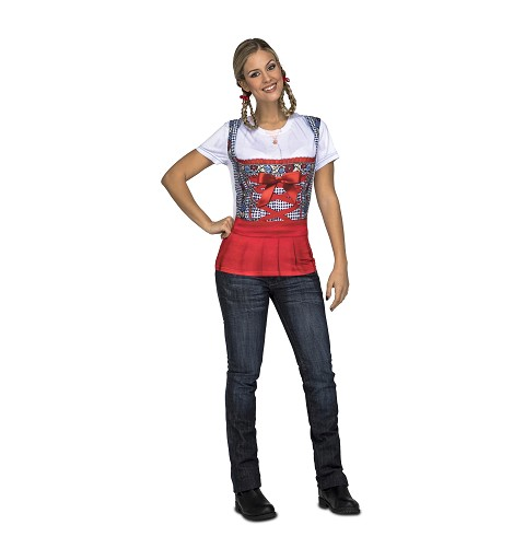 Camiseta Oktoberfest Roja...