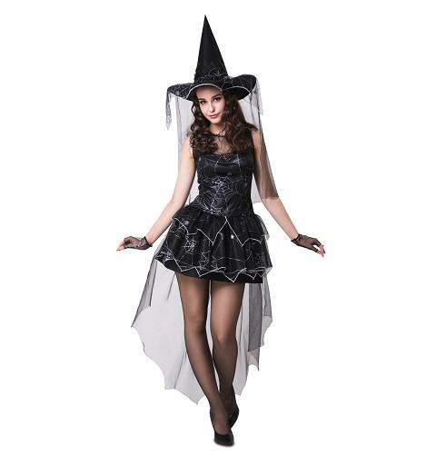 Disfraz Bruja Araña Negra...
