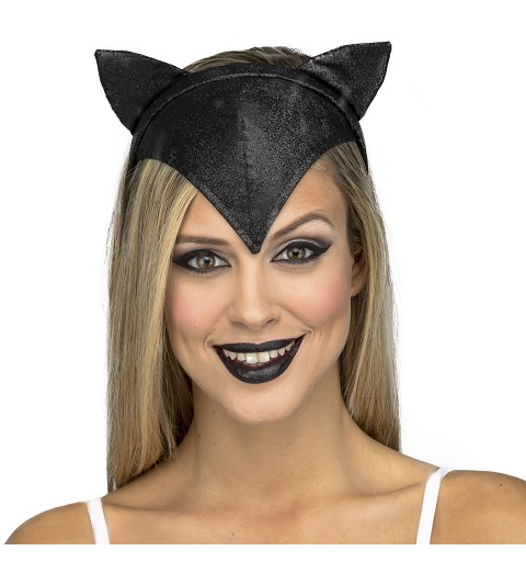 Diadema Gato Negro Mujer